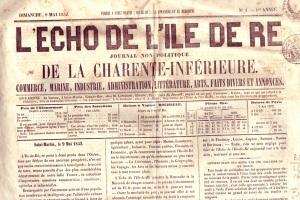L'Echo de l'île de Ré, n°1 - mai 1852
