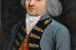 Chirurgien militaire, huile sur toile XVIIIe siècle