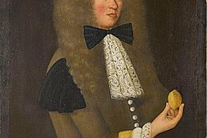 L'homme au citron huile sur toile XVIIe siècle