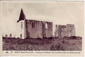 L'abbaye des Châteliers. Sur cette carte toute la légende est fausse !
