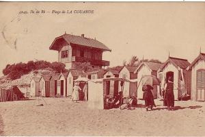 La plage de la Couarde et le chalet de Mistinguett