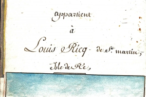 Cours de navigation de Louis Ricq. Manuscrit XIXe siècle