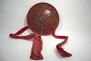 Salacco, coiffe annamite employée par les troupes coloniales et indigènes pendant la campagne de Cochinchine. Asie du Sud-Est XIXe siècle
