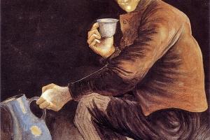 Détenu à Saint-Martin, pastel sur papier par Pierre Voillard, 1898
