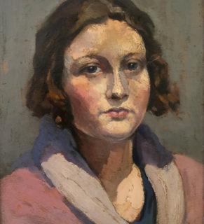 1925-Hélène Suire huile encadrée 21x27