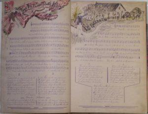 Recueil de musique, Joseph Verlaine © Musée Ernest Cognacq Ville de Saint-Martin-de-Ré