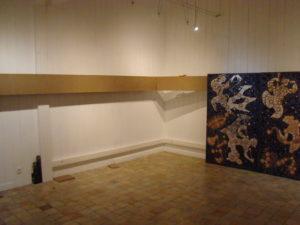 Démontage de l'exposition Albert Pesché.