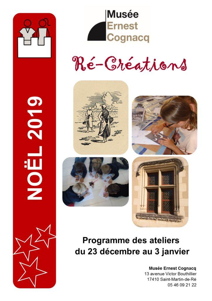Programme des ateliers de Noël 2019