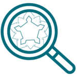 Icon loupe et fortification