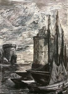 Port de La Rochelle, plaque gravée.