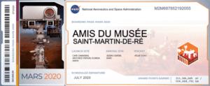 Le « ticket de voyage vers Mars » transmis par la NASA